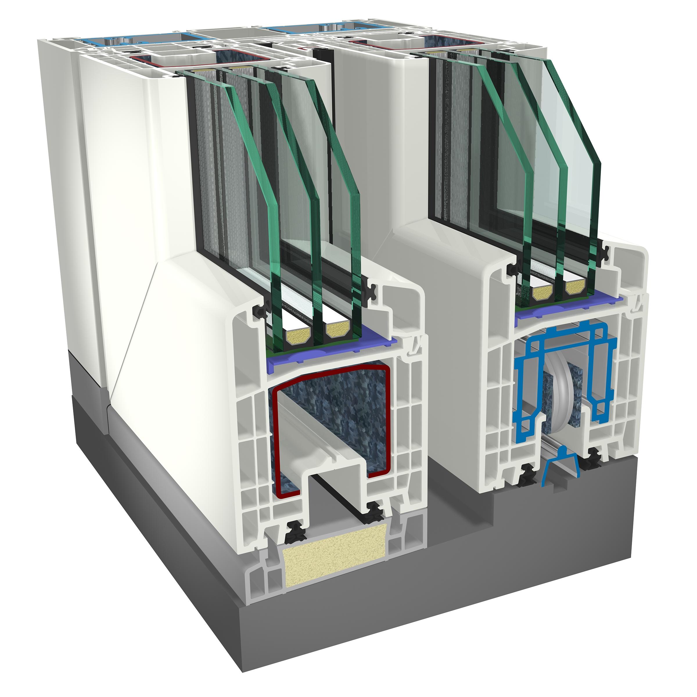Produzione alzanti scorrevoli in pvc e vetrate reale infissi for Porte scorrevoli pvc